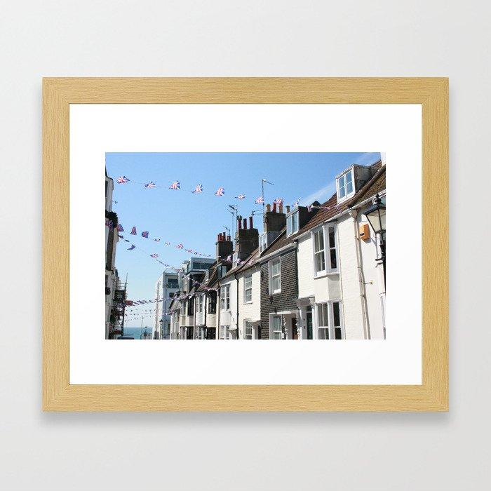 Brighton streets Framed Art Print