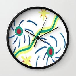 Suns and Hurricanes Wall Clock