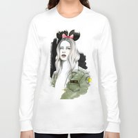 army Long Sleeve T-shirts featuring Army Girl by Camis Gray