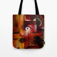 portal Tote Bags featuring portal by sewec