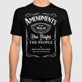 2nd Amendment Whiskey Bottle T-shirt