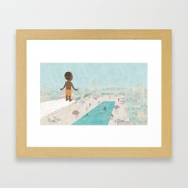 Jabari On Top of The World Framed Art Print