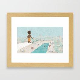 Jabari On Top of The World Framed Art Print