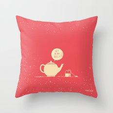 Tea bag & Teapot Throw Pillow