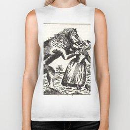 Werewolf attack Medieval etching Biker Tank