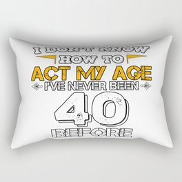 Funny Birthday Gift 40 Years Forty Born in 1978 Rectangular Pillow