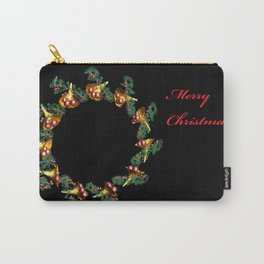 Fractal Christmas Wreath Carry-All Pouch