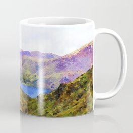 View Down to Buttermere, Lake District, UK Watercolour Painting Coffee Mug