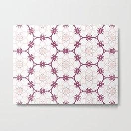 Pink Pattern Metal Print