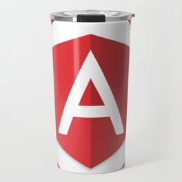angularjs developer angular.js framework logo sticker Travel Mug