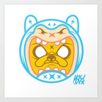 finn and jake Art Prints featuring Finn & Jake by Miguel Manrique