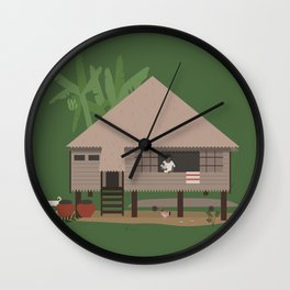 Bahay Kubo Wall Clock