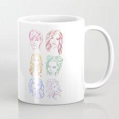 Rainbow Minimal Portraits Mug