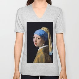Girl with a Pearl Earring - Digital Remastered Edition Unisex V-Neck