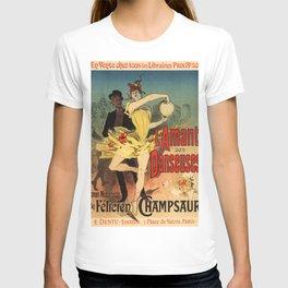 L Amant Des Danseuses Roman Moderniste Par F Licien Champsaur 1888 By Jules Cheret | Reproduction Ar T-shirt