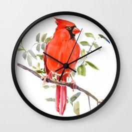 Cardinal Bird homde decor Wall Clock