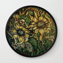 The Flowers Behind the Barn Wall Clock