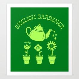 English Gardener Art Print