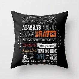 Promise me this Throw Pillow