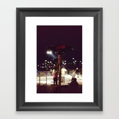 Night out on the Ice Framed Art Print