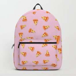 Girly tasty Pizza Pattern on soft pink Backpack