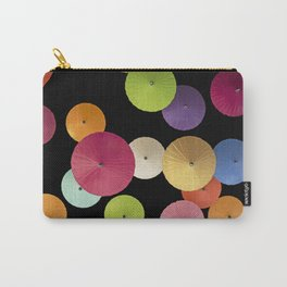 Colorful Paper Umbrella Abstract Carry-All Pouch