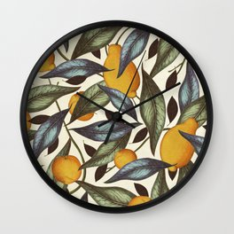 Lemons, Oranges & Pears Wall Clock