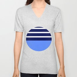 Summer Patio Perfect, Blue, White & Navy Unisex V-Neck