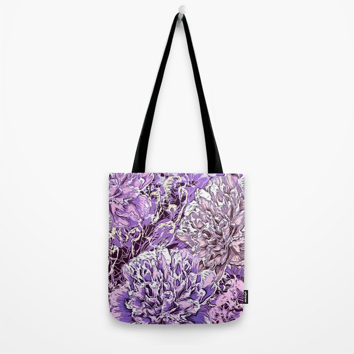 Flowers - blue mood Tote Bag