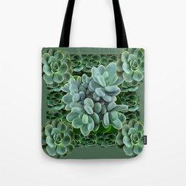 ARTISTIC GRAY-GREEN SUCCULENT ART Tote Bag