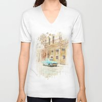 rio V-neck T-shirts featuring RIO by Nechifor Ionut
