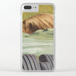 He had many layers. Clear iPhone Case