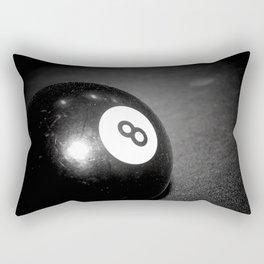 Eight Ball-Black Rectangular Pillow
