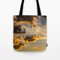 inspiration Tote Bags featuring Inspiration by Michelle McConnell
