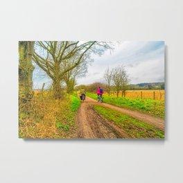 Countryside Bike Ride Metal Print
