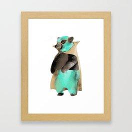 Luchador Bear Framed Art Print