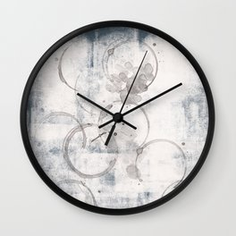 Navy Blue And Coffee Stain #10 Wall Clock