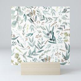 Eucalyptus pattern Mini Art Print