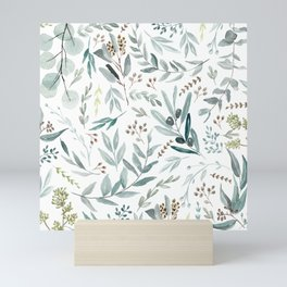 Eucalyptus pattern Mini Art Print