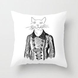 Crappy Cat 3! Throw Pillow