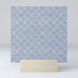 Denim Waves Mini Art Print