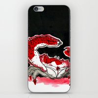 crab iPhone & iPod Skins featuring Crab by Lieke Mulder