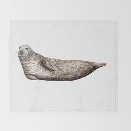 Grey Seal (Halichoerus grypus) Throw Blanket