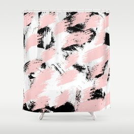 Abstract Pink/white Shower Curtain