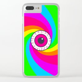 Neon Gaze Clear iPhone Case