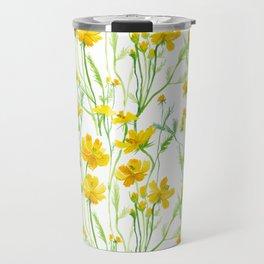 Yellow Field flowers Travel Mug