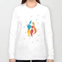 hindu Long Sleeve T-shirts featuring Radha Krishna Hindu god of Love by IDigType