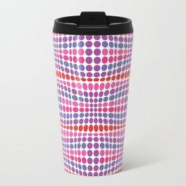 Dottywave - Red Pink Purple wave dots pattern Travel Mug