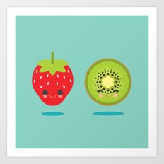 Strawberry Kiwi Art Print
