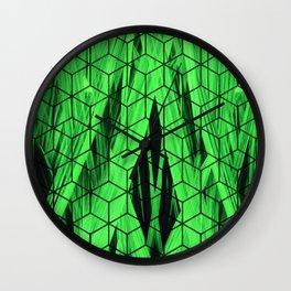 Nature green cubes Wall Clock